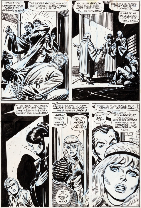 Amazing Spider-Man issue 109 page 14 by John Romita and Tony Mortellaro.  Source.