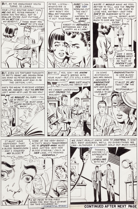 Amazing Spider-Man issue 32 page 4 by Steve Ditko. Source.