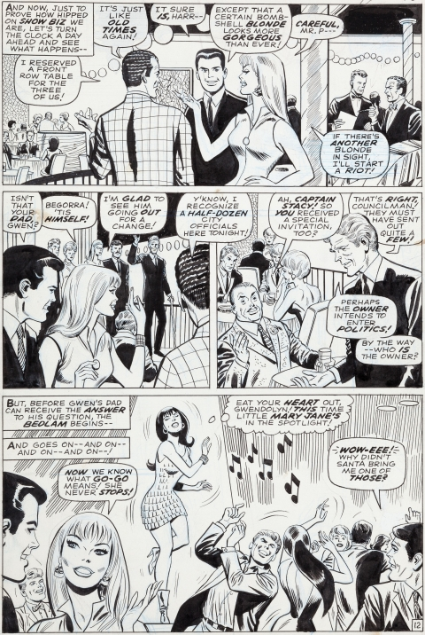 Amazing Spider-Man issue 59 page 12 by John Romita, Don Heck and Mike Esposito.  Source.