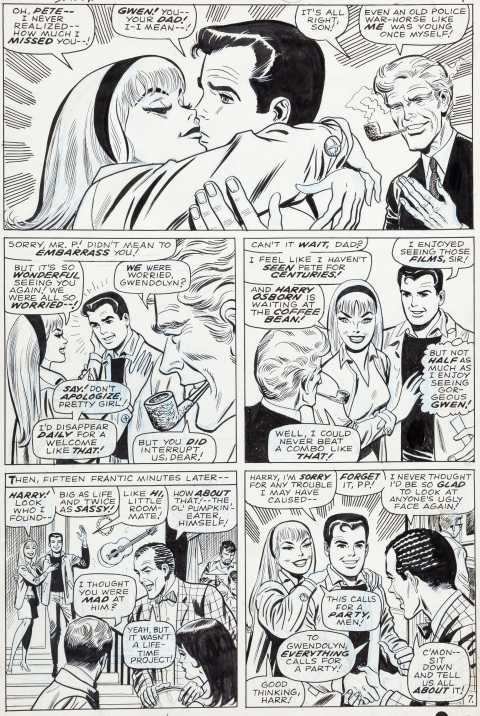 Amazing Spider-Man issue 59 page 7 by John Romita, Don Heck and Mike Esposito.  Source.