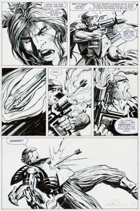Archer & Armstrong issue 2 page 15 by Barry Windsor-Smith.  Source.