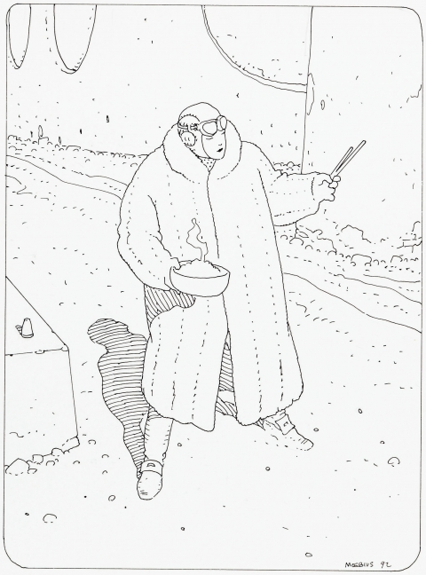 Barnier's Escape by Moebius. Source.