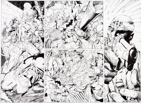 Batman issue 609 pages 2-3 by Jim Lee and Scott Williams.  Source.
