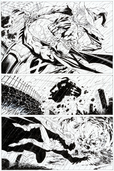 Batman issue 617 page 17 by Jim Lee and Scott Williams. Source.