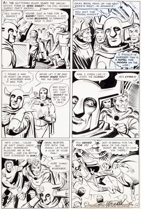 Beware The Creeper issue 3 page 14 by Steve Ditko.  Source.