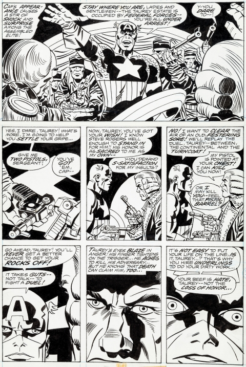 Captain America issue 200 page 30 by Jack Kirby and Frank Giacoia.  Source.