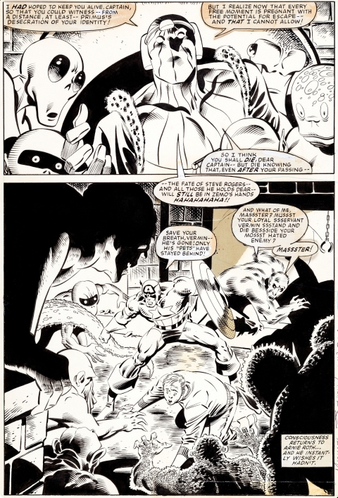 Captain America issue 278 page 6 by Mike Zeck and John Beatty.  Source.