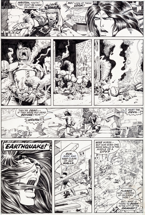 Conan The Barbarian issue 8 page 16 by Barry Smith and Tom Palmer.  Source.