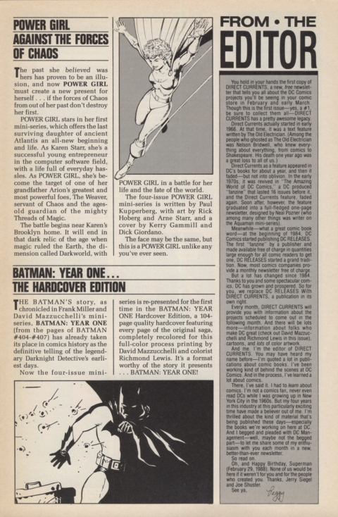 DC Direct Currents 1 January 1988 Page 3