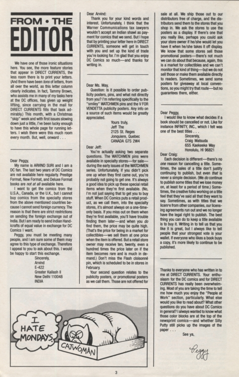 DC Direct Currents 11 November 1988 Page 3