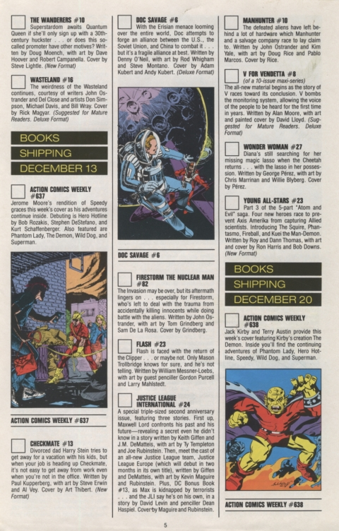 DC Direct Currents 11 November 1988 Page 5