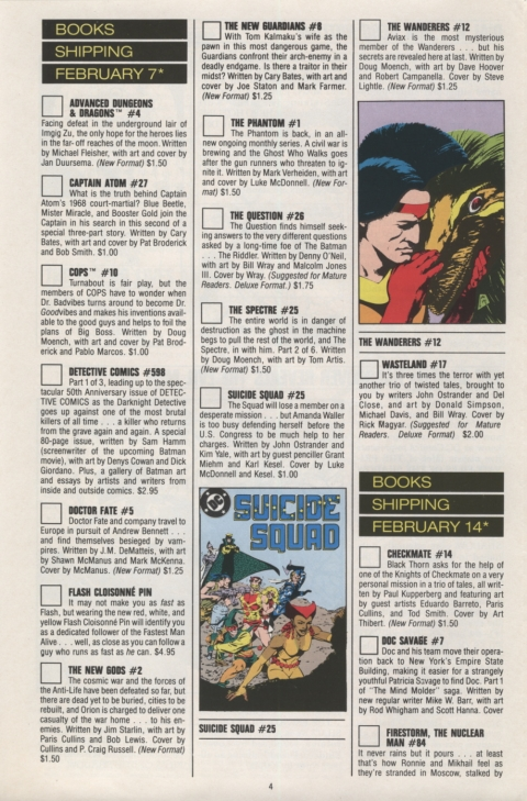 DC Direct Currents 13 January 1989 Page 4