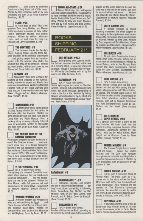 DC Direct Currents 13 January 1989 Page 5