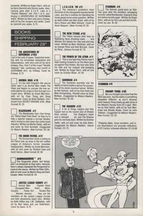 DC Direct Currents 13 January 1989 Page 6