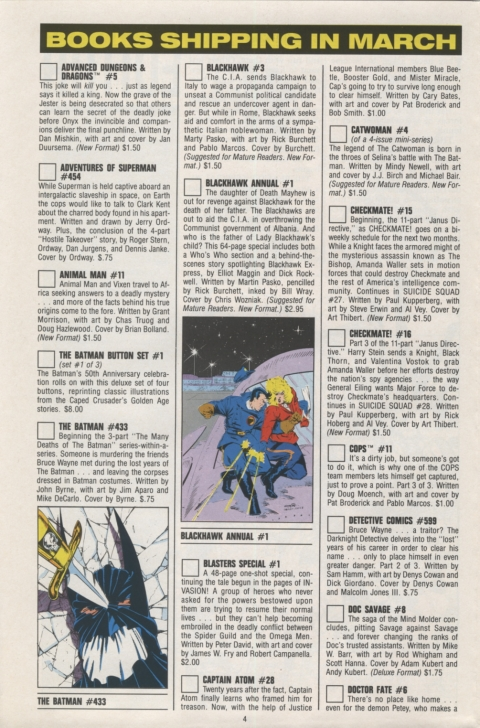 DC Direct Currents 14 February 1989 Page 4