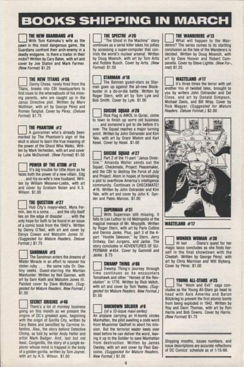 DC Direct Currents 14 February 1989 Page 6