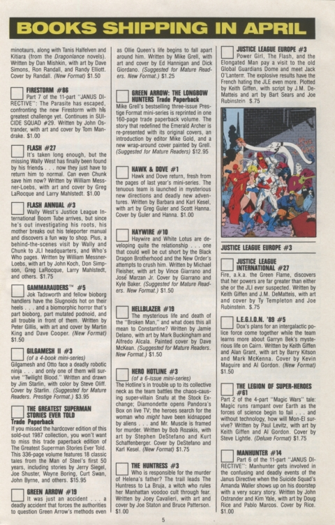 DC Direct Currents 15 March 1989 Page 5