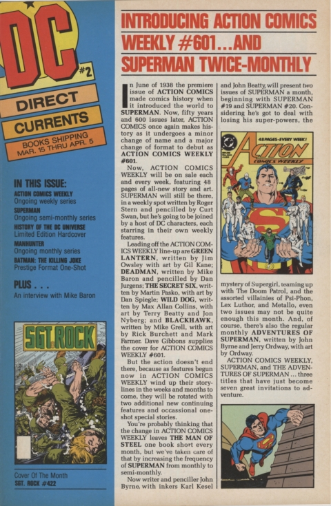 DC Direct Currents 2 February 1988 Page 1