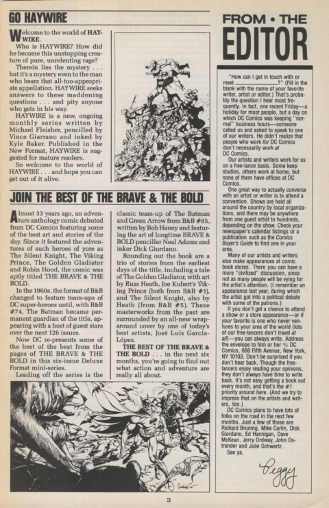DC Direct Currents 5 May 1988 Page 3