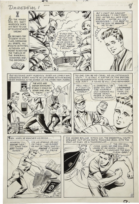 Daredevil issue 1 page 6 by Bill Everett. Source.