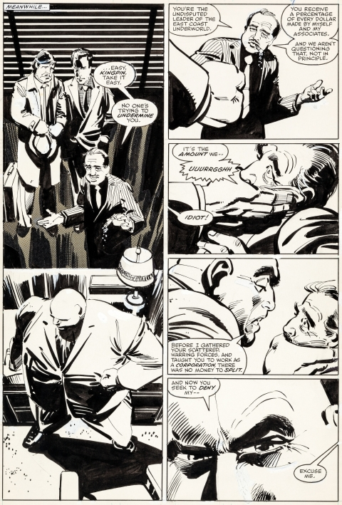 Daredevil issue 188 page 14 by Frank Miller and Klaus Janson.  Source.