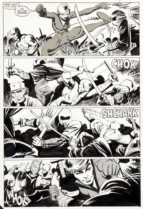 Daredevil issue 189 page 8 by Frank Miller and Klaus Janson.  Source.