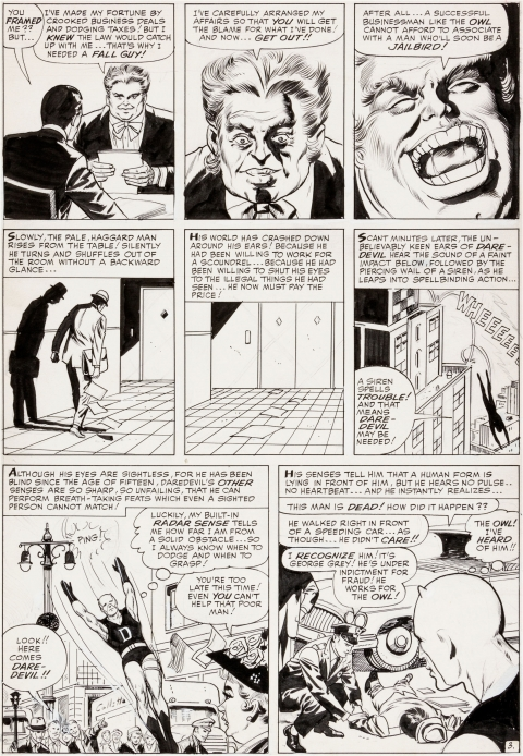 Daredevil issue 3 page 3 by Joe Orlando and Vince Colletta. Source.