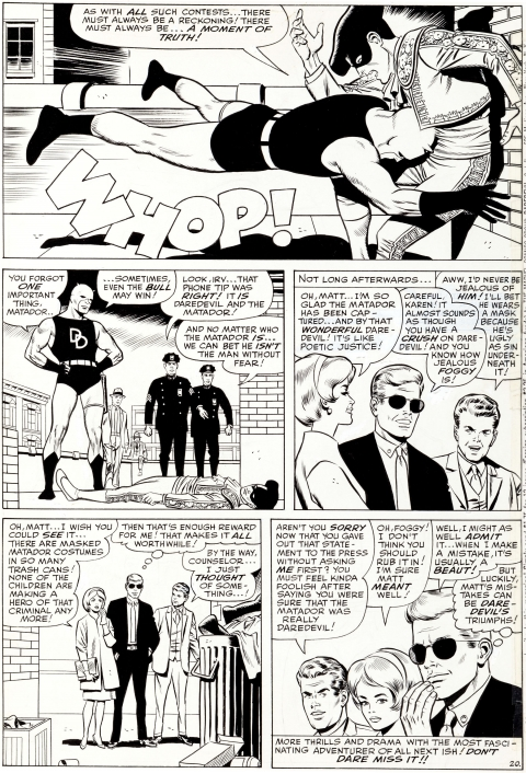 Daredevil issue 5 page 20 by Wally Wood. Source.