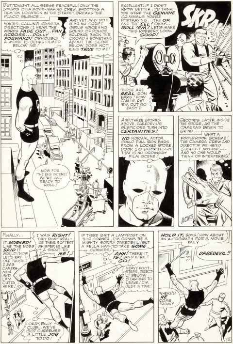 Daredevil issue 6 page 2 by Wally Wood. Source.