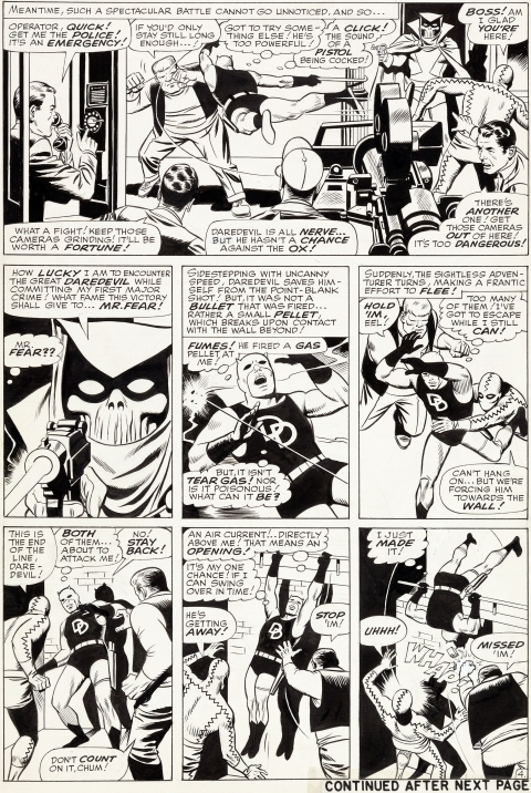 Daredevil issue 6 page 4 by Wally Wood. Source.