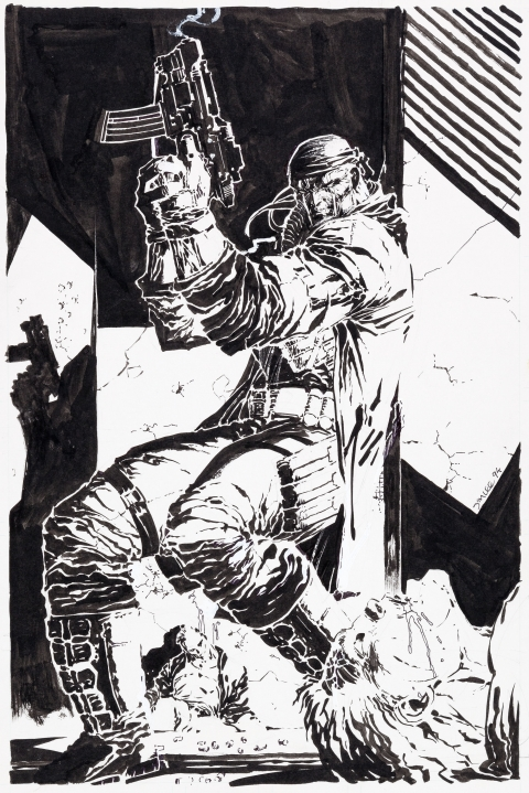 Deathblow issue 6 cover by Jim Lee.  Source.