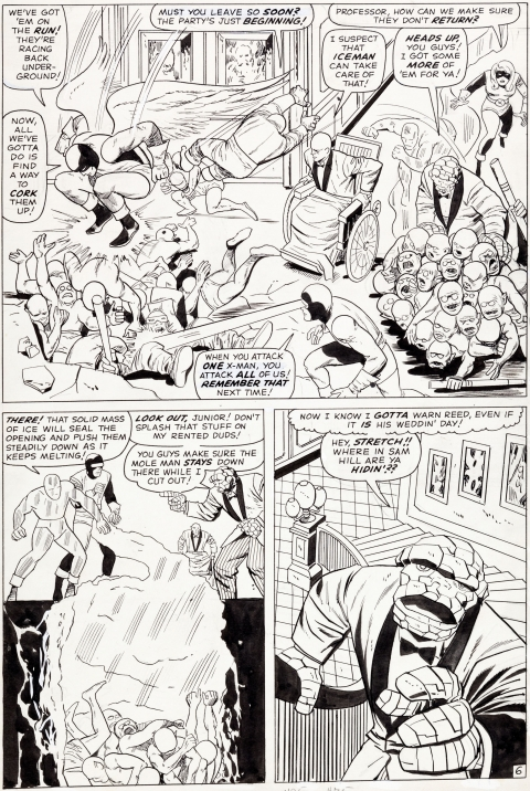 Fantastic Four Annual issue 3 page 6 by Jack Kirby and Vince Colletta.  Source.