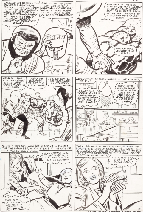 Fantastic Four issue 36 page 14 by Jack Kirby and Chic Stone.  Source.
