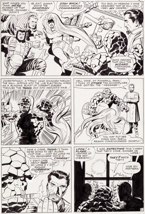 Fantastic Four issue 41 page 11 by Jack Kirby and Vince Colletta.  Source.