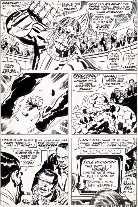 Fantastic Four issue 93 page 9 by Jack Kirby and Frank Giacoia.  Source.