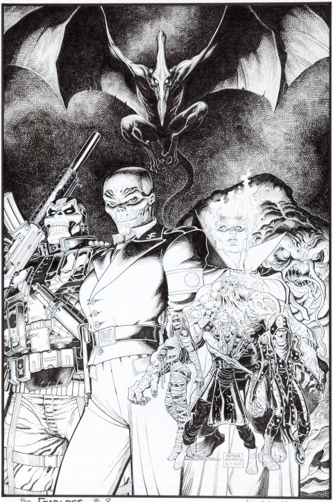 Fear Itself The Fearless issue 8 cover by Art Adams. Source.