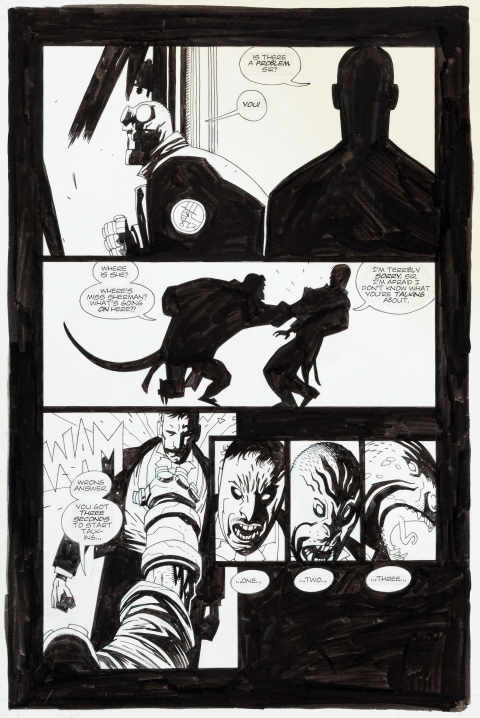 Hellboy: Seeds Of Destruction issue 2 page 13 by Mike Mignola.  Source.