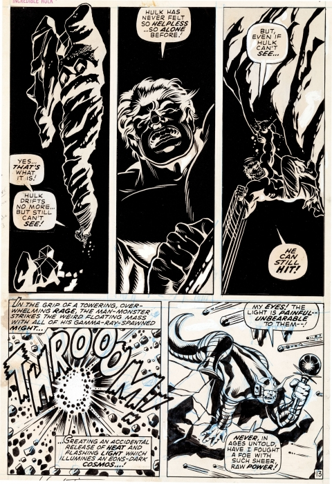 Incredible Hulk issue 126 page 13 by Herb Trimpe.  Source.
