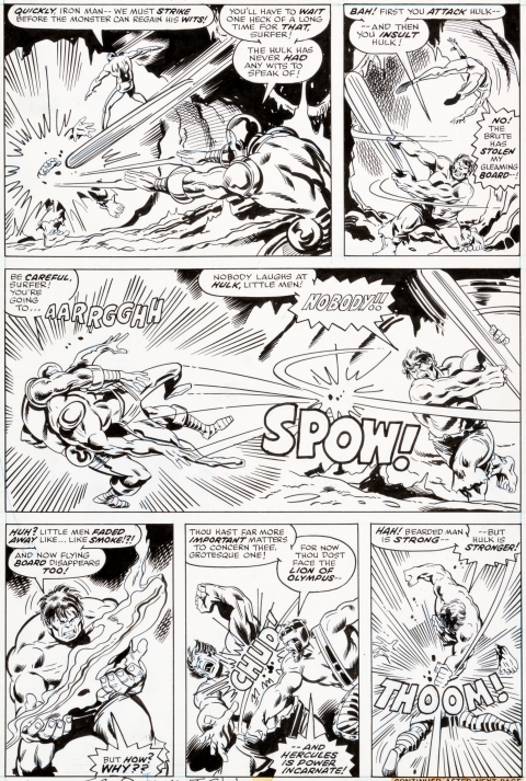 Incredible Hulk issue 200 page 18 by Sal Buscema and Joe Staton.  Source.