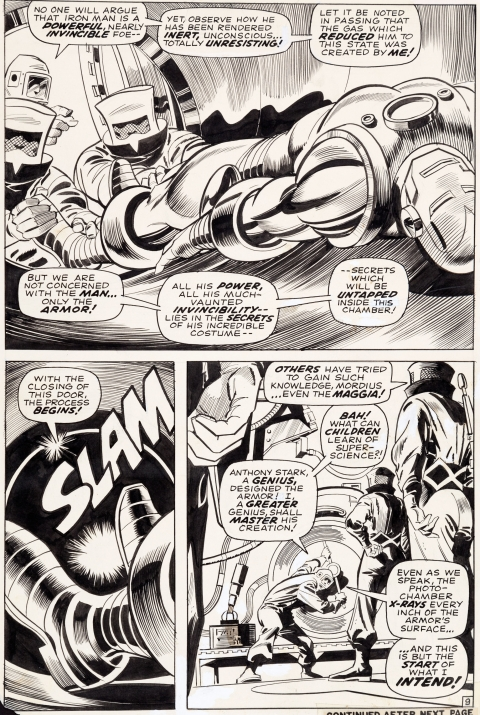 Iron Man issue 1 page 9 by Gene Colan and Johnny Craig.  Source.