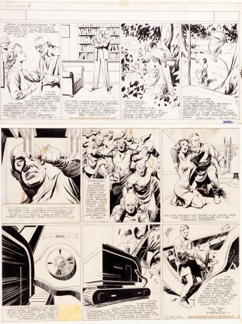Jungle Jim and Flash Gordon Sunday 12-22-1940 by Alex Raymond.  Source.