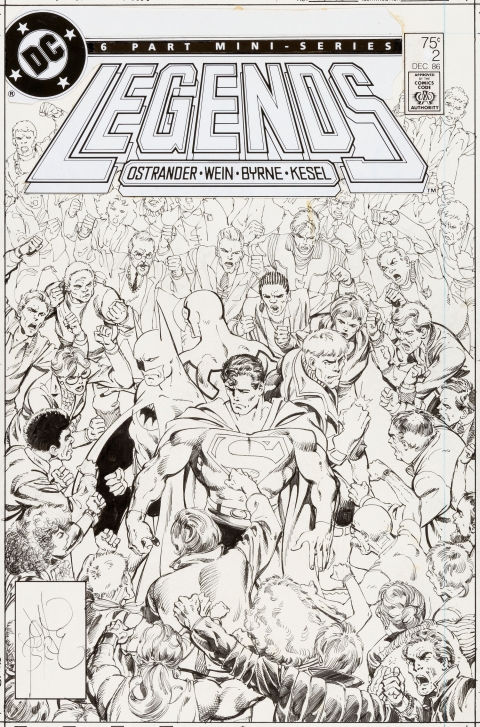 Legends issue 2 cover by John Byrne.  Source.