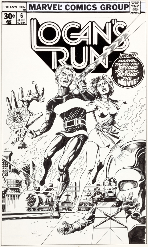 Logan's Run issue 6 cover by Paul Gulacy.  Source.