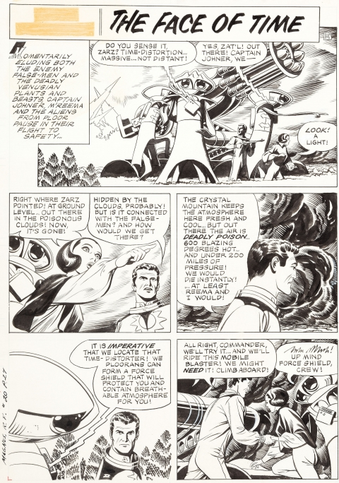 Magnus Robot Fighter issue 20 page 1 by Russ Manning.  Source.
