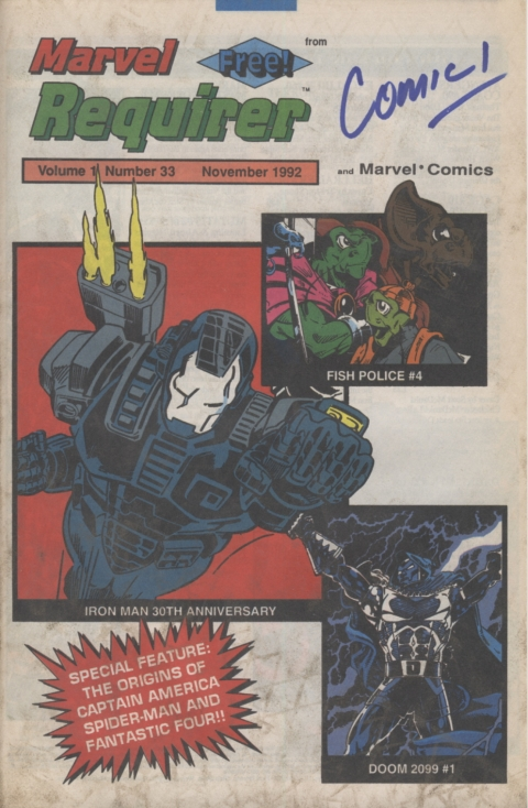 Marvel Requirer November 1992 page 1