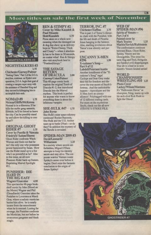 Marvel Requirer November 1992 page 3