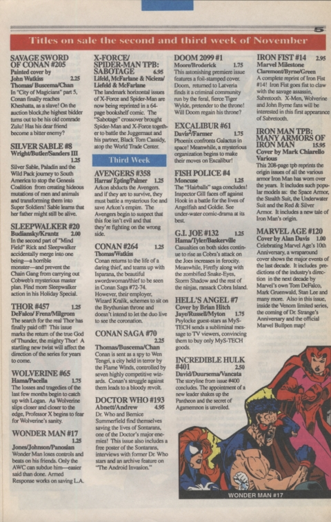 Marvel Requirer November 1992 page 5