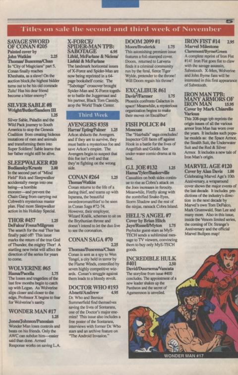 Marvel Requirer November 1992 page 5