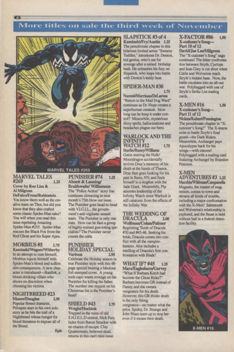 Marvel Requirer November 1992 page 6