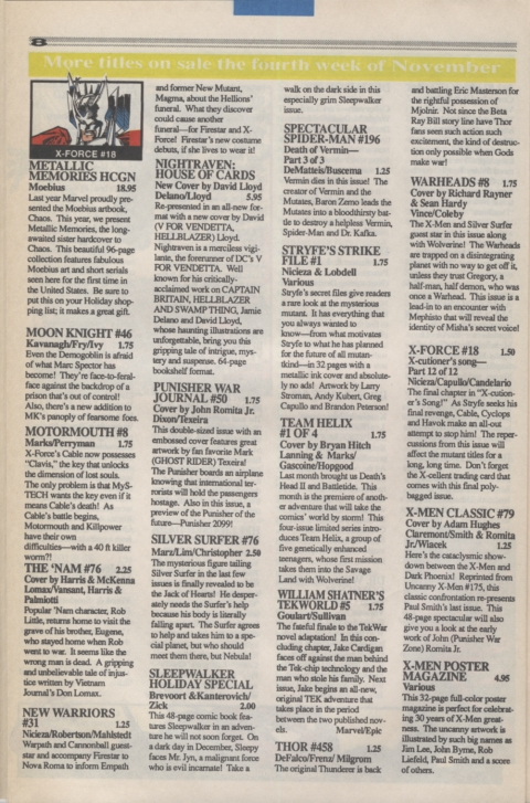 Marvel Requirer November 1992 page 8